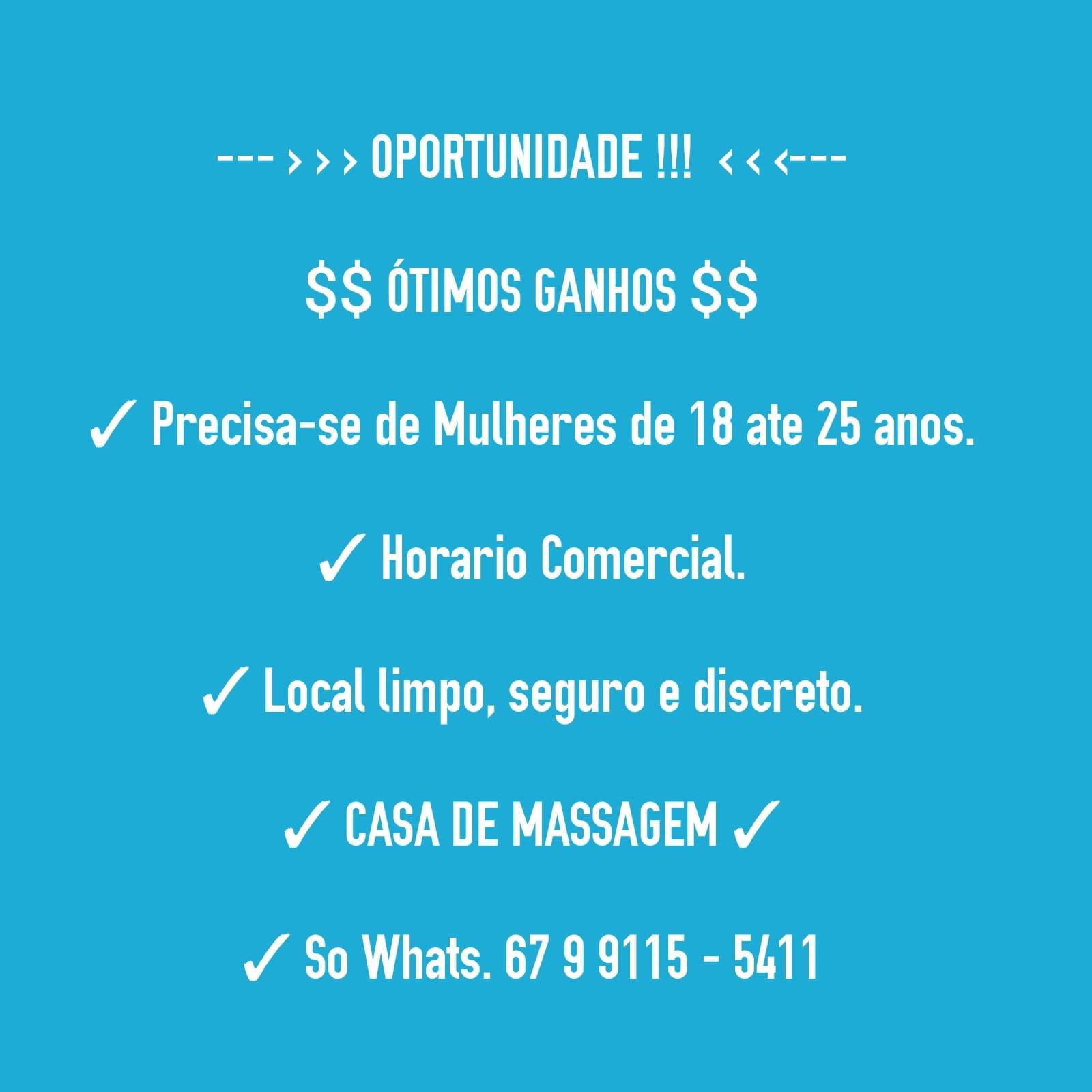 Acompanhante Campo Grande   Precisa-se de Mulheres